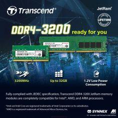 Transcend memory 8GB 3200 SO-DIMM 1Rx16 [JM3200HSG-8G]