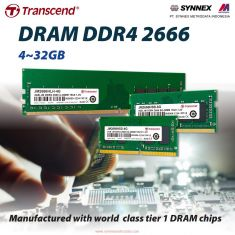 Transcend memory 4GB 2666 SO-DIMM 1Rx8 [JM2666HSH-4G]