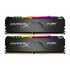 Kingston Memory 16GB 3200MHz DDR4 CL16 DIMM (Kit of 2) 1Rx8 HyperX FURY RGB [HX432C16FB3AK2/16]