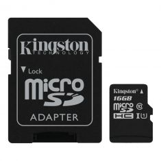 16GB microSDHC Canvas Select 80R CL10 UHS-I, up to 80MB/s read, 10MB/s write with adapter